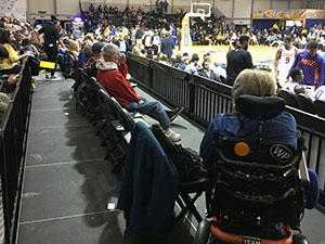 ADA Seating Area Kaiser Permanente Arena Santa Cruz